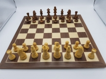 Walnut chessboard with Acacia pieces